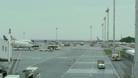 Okinawa Naha Airport 11 Stock Video Footage