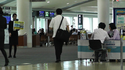 Okinawa Naha Airport Terminal 02 handheld Stock Video Footage
