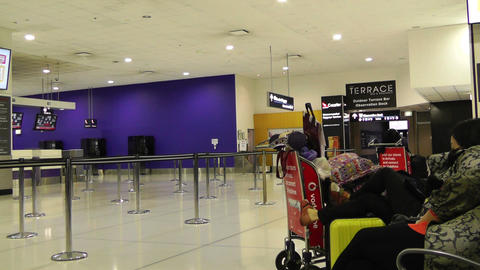 Sydney Kingsford Smith Airport Check In Counters 02 Stock Video Footage
