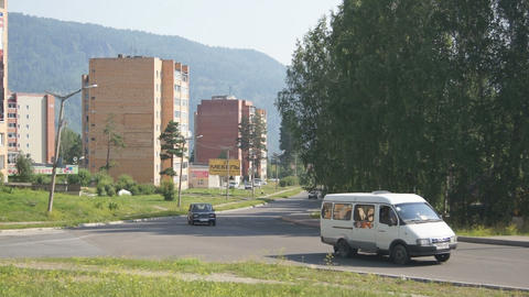 Town of Divnogorsk Street View Footage