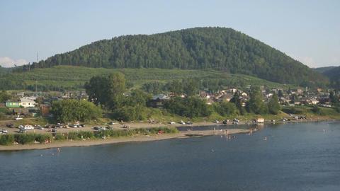 Village Ust-Mana Panorama Footage