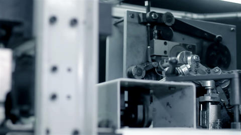 Production machine in motion Stock Video Footage