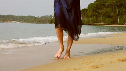 girl on the beach Footage