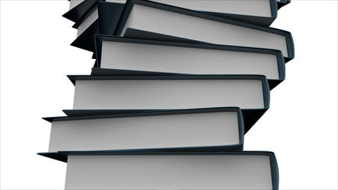 Stack of Books Stock Video Footage