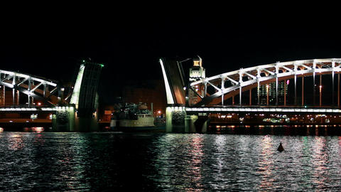 time lapse Voyage in the river Stock Video Footage