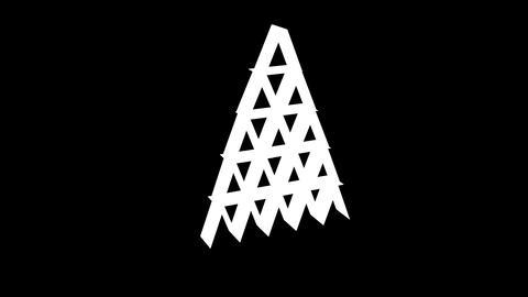 Card Pyramid Stock Video Footage