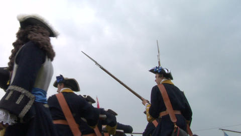savoian french infantry battle 03 Stock Video Footage