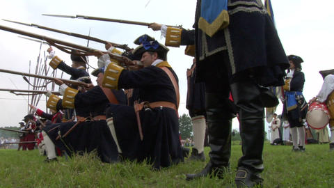 savoian french infantry battle 05 Stock Video Footage