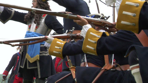 savoian french infantry battle 09 Stock Video Footage