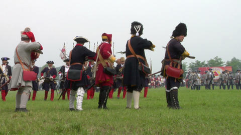 savoian french infantry battle 11 Stock Video Footage