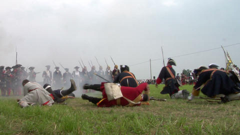 savoian french infantry battle 17 Stock Video Footage