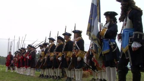 savoian infantry firing 02 Stock Video Footage