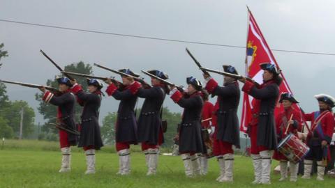 savoian infantry firing 06 Stock Video Footage