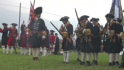 savoian infantry firing 08 Stock Video Footage