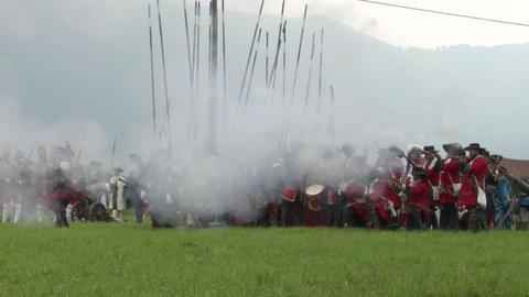 savoian infantry firing 10 Stock Video Footage