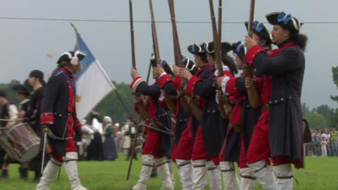 savoian royal guard battle 01 Stock Video Footage