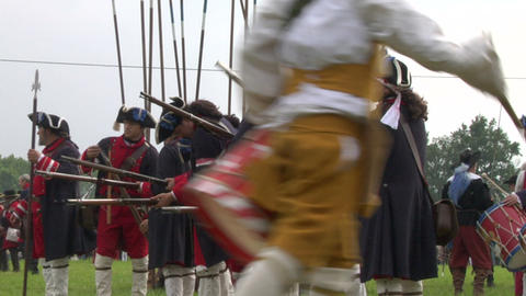 savoian royal guard battle 03 Stock Video Footage