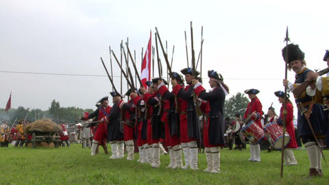 savoian royal guard battle 05 Stock Video Footage