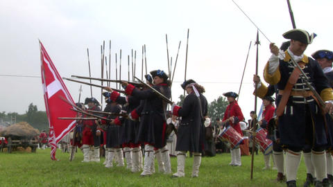 savoian royal guard battle 05 Stock Video Footage