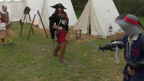 sword fight 02 Stock Video Footage