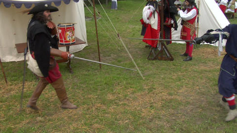 sword fight 04 Stock Video Footage