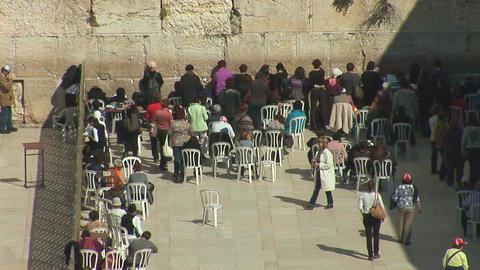 kotel womans Stock Video Footage