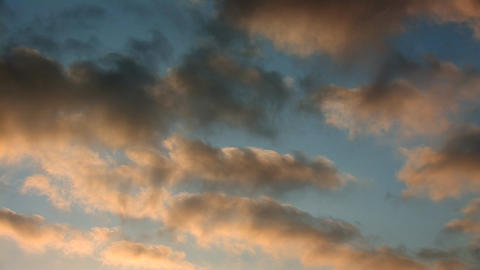 morning clouds Stock Video Footage