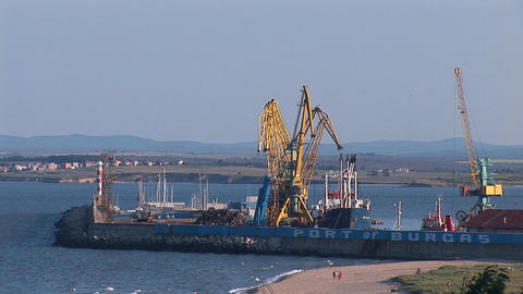 burgas port Stock Video Footage