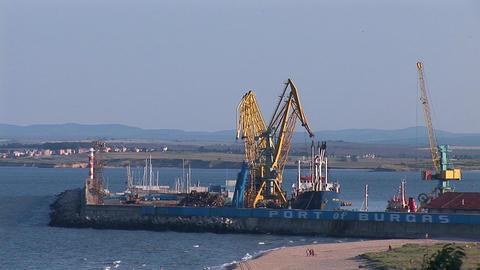 burgas port Stock Video Footage