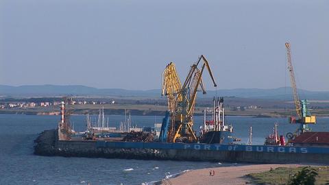 burgas port Footage