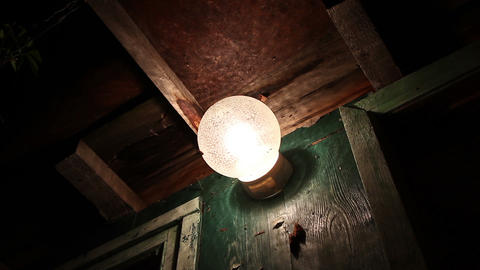 insects flying around the lamp Stock Video Footage