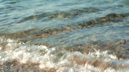 CALM WAVES COMES A SHORE Stock Video Footage