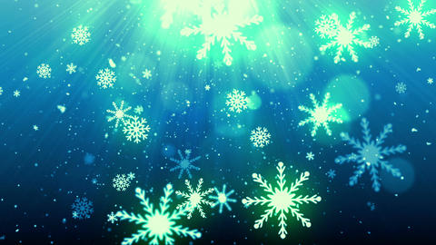 Christmas Eve Snow Flakes Stock Video Footage