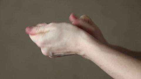 Woman Uses Hand Cream stock footage