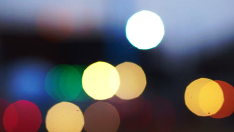 Blurred bokeh traffic truck on construction site Footage