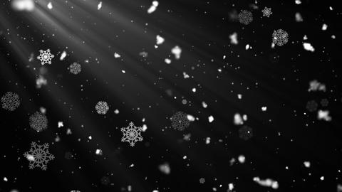 Snow Flakes Rays 4 Animation
