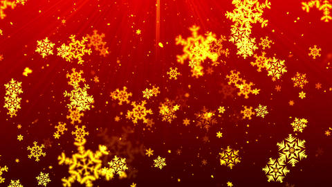 Christmas Red Snow Flakes stock footage