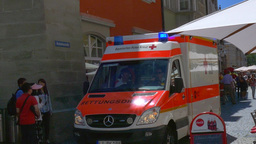 Ambulance When Used In The City stock footage