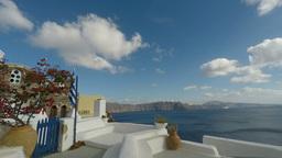 oia on santorini island in 4k Footage