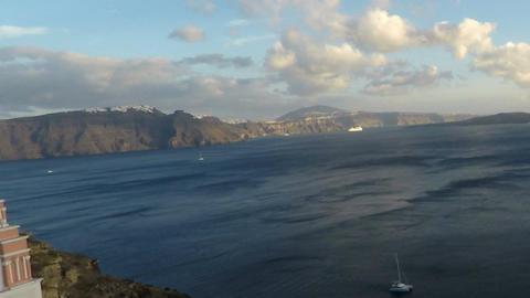 Oia On Santorini Island In 4k stock footage