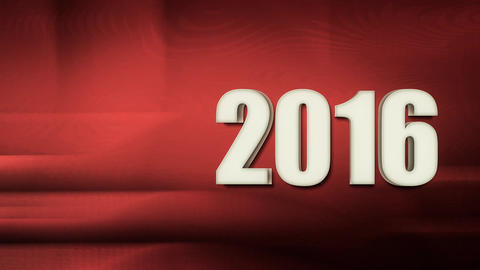 New Year 2016 Intro Soft Red stock footage