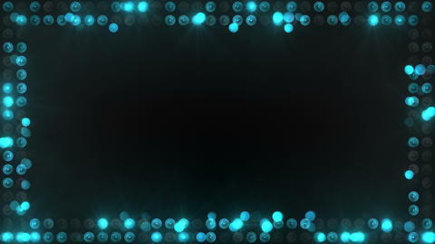 frame of blue lighting bulbs loopable 4k (4096x2304) Animation