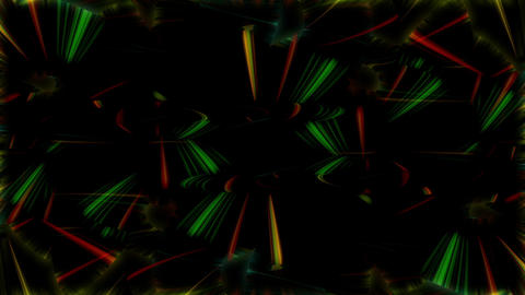 Multicolored rays of lights VJ Loop Footage