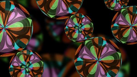 Sixties Pop Retro Flower Psychedelic VJ Loop stock footage