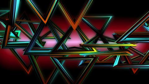 Stroboscopic Multicolored Triangles Animation VJ Loop Footage