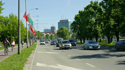 Gdansk, Poland. Daily life. Street view Footage