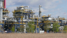 Oil refinery plant. Industry Footage