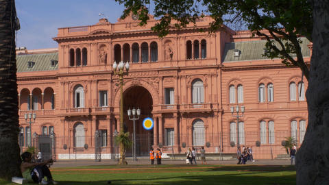 "Argentina House of Government ""Casa Rosada"" Footage"