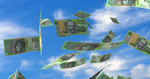Falling Australian Dollar Animation