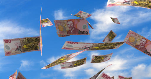 Falling New Zealand Dollar Animation